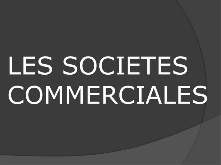 DÉFINITION DE LA SOCIÉTÉ COMMERCIALE