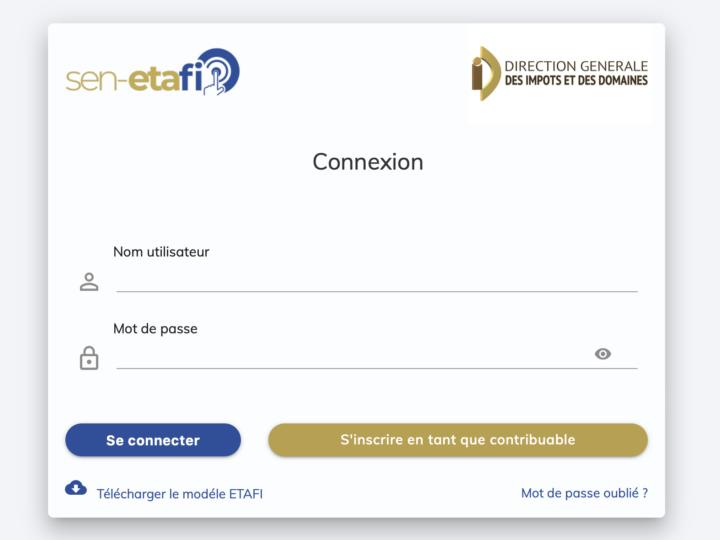 Validation en Ligne des Etats financiers au Senegal sur sen-etafi.